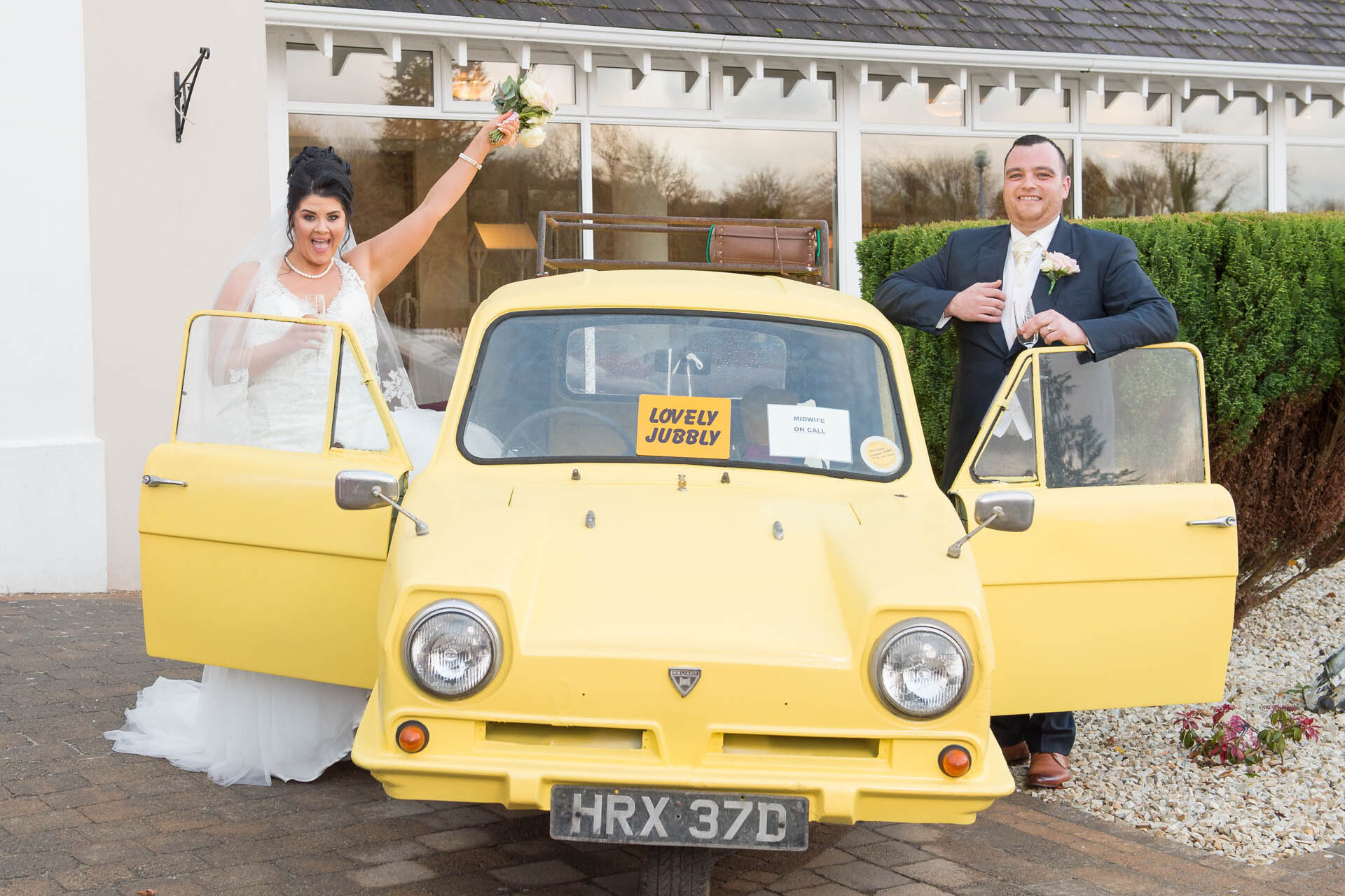 Picture of Andrea and Christopher on their wedding day at Manor House, Enniskillen, captured by Fermanagh, Tyrone and Northern Ireland wedding photographer, Trevor Lucy Photography