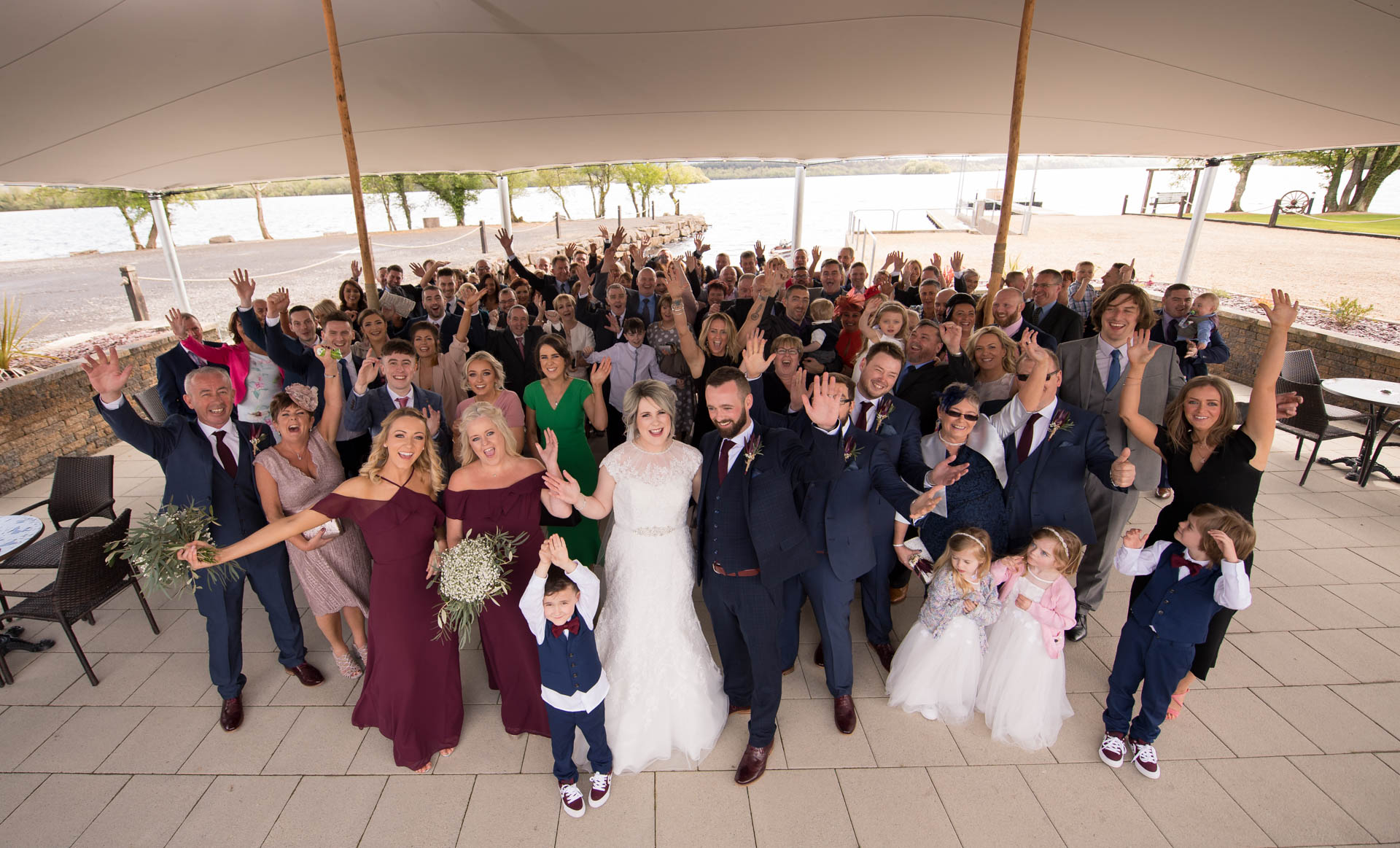 Picture of Carla and Gareth at Rossharbour Resort on their wedding day, captured by Fermanagh, Tyrone and Northern Ireland Wedding Photographer, Trevor Lucy Photography