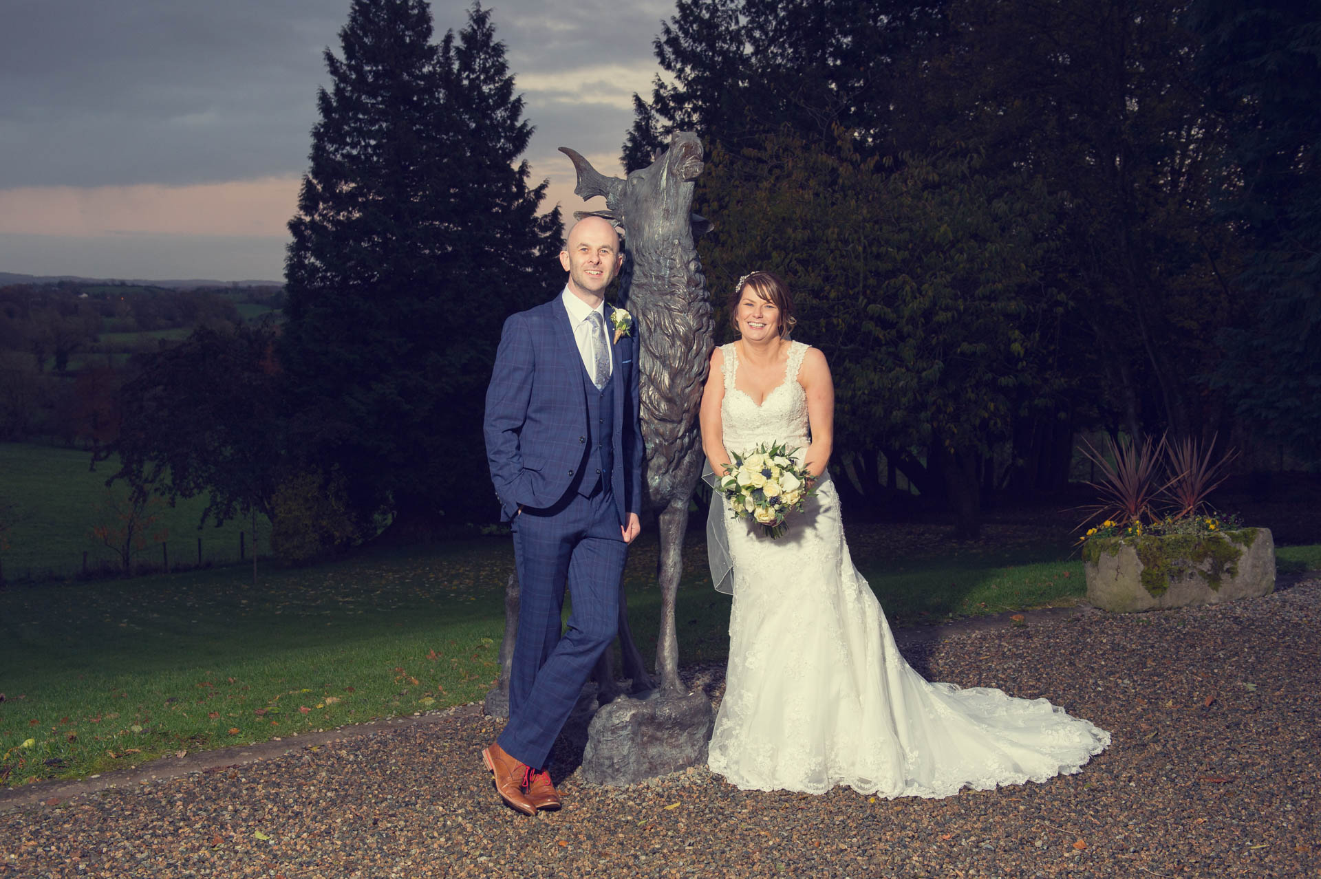 Picture of Chrissy and Kenny at Corick House Hotel, Clogher on their wedding day captured by Fermanagh, Tyrone and Northern Ireland Wedding Photographer, Trevor Lucy Photography