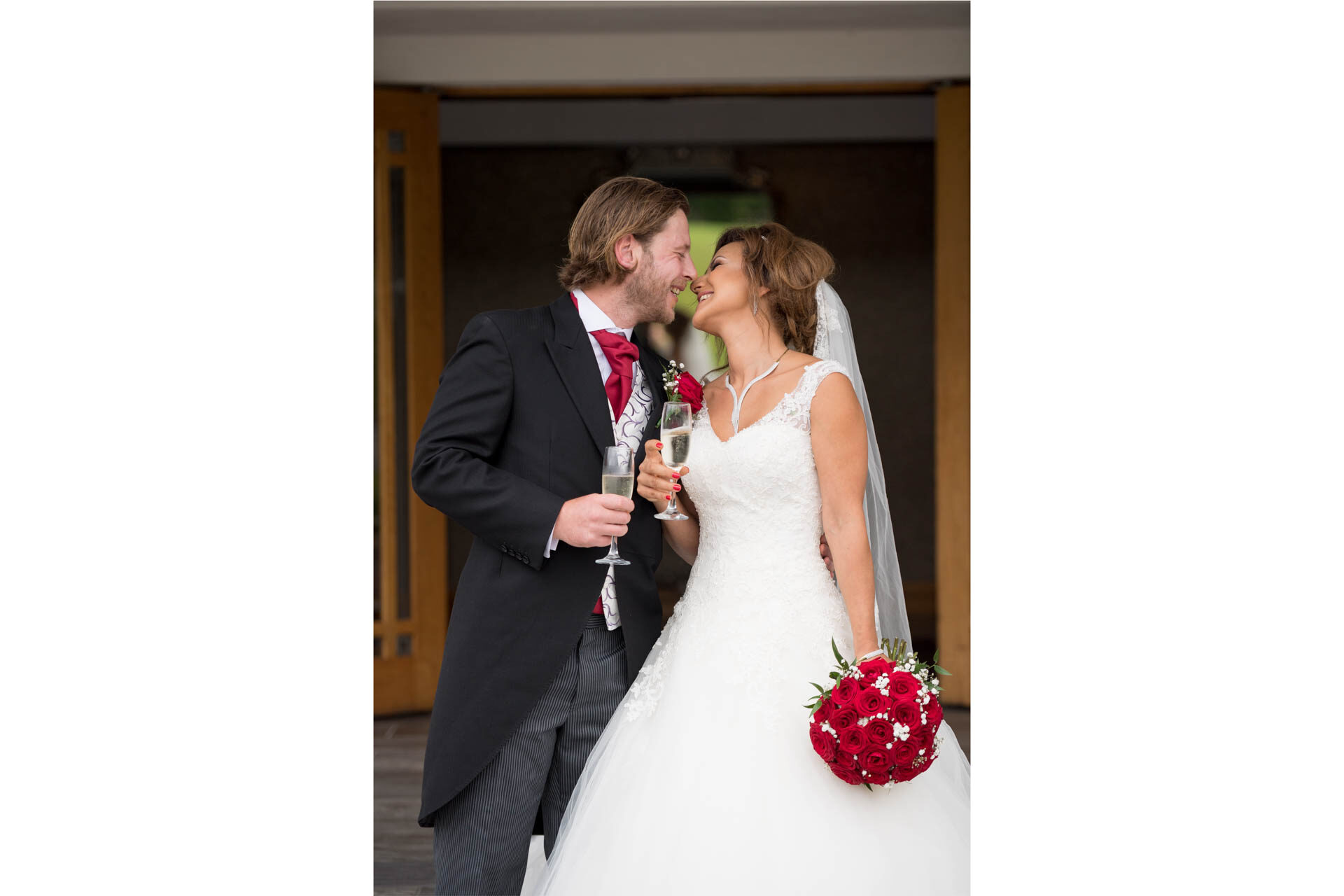 Picture of Deniz and Stevie at Killyhevlin Hotel, Enniskillen on their wedding day captured by Fermanagh, Tyrone and Northern Ireland Wedding Photographer, Trevor Lucy Photography