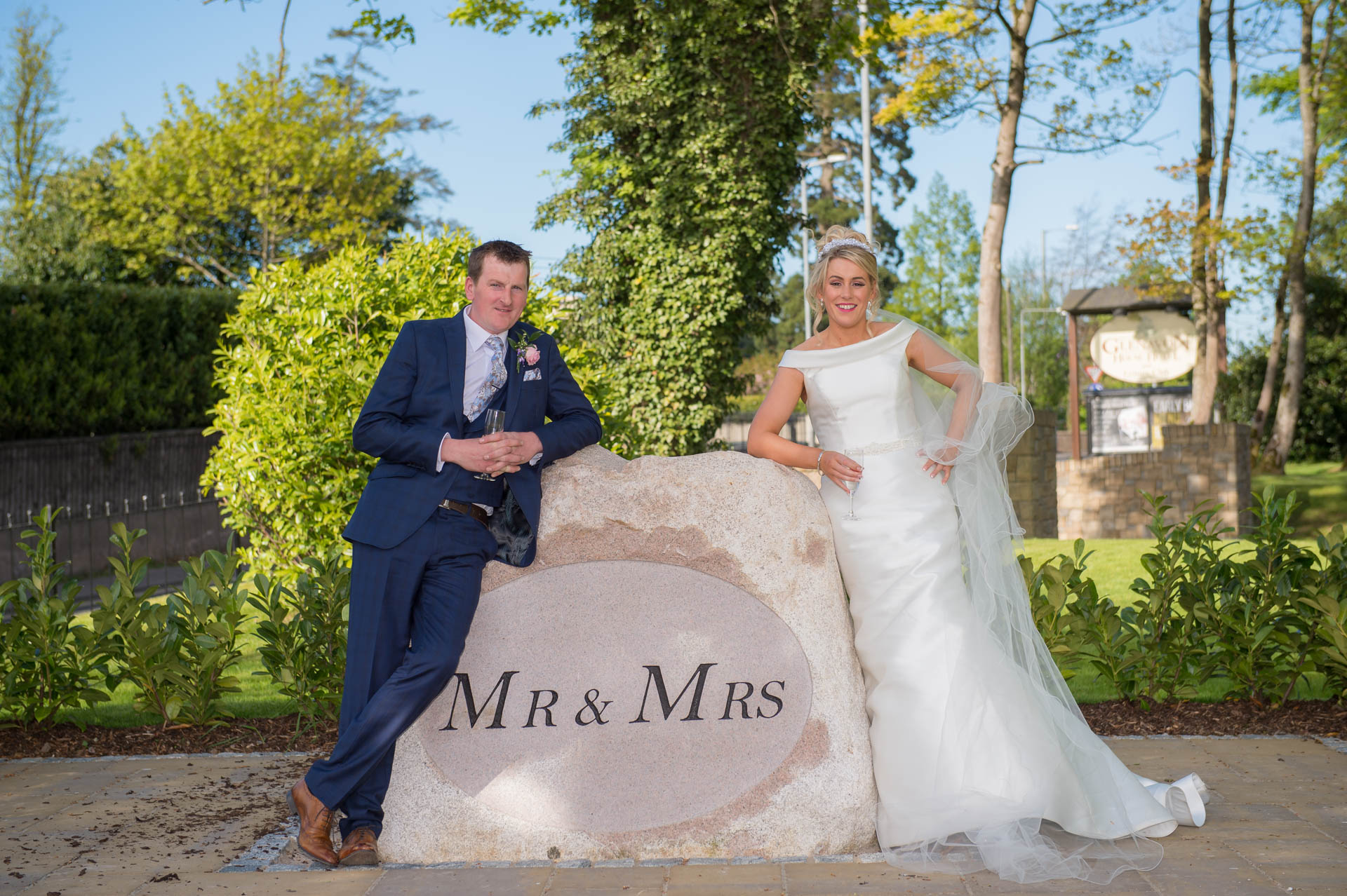 Picture of Noeleen and Cahal at Glenavon House Hotel on their wedding day, captured by Fermanagh, Tyrone and Northern Ireland Wedding Photographer, Trevor Lucy Photography
