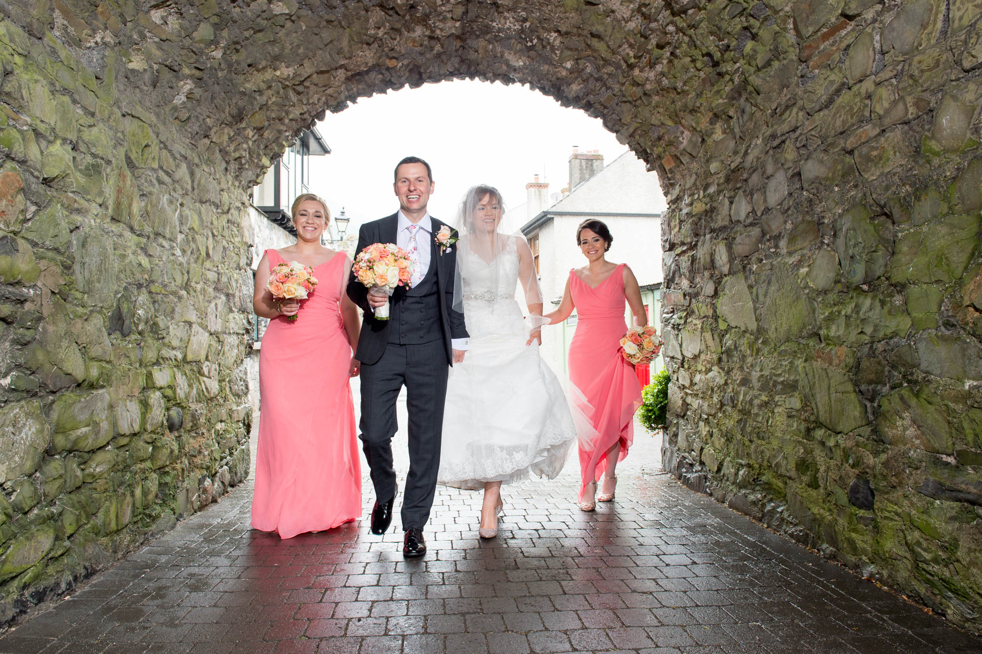 Picture of Ruth and Robert at Carlingford on their wedding day captured by Fermanagh, Tyrone and Northern Ireland Wedding Photographer, Trevor Lucy Photography