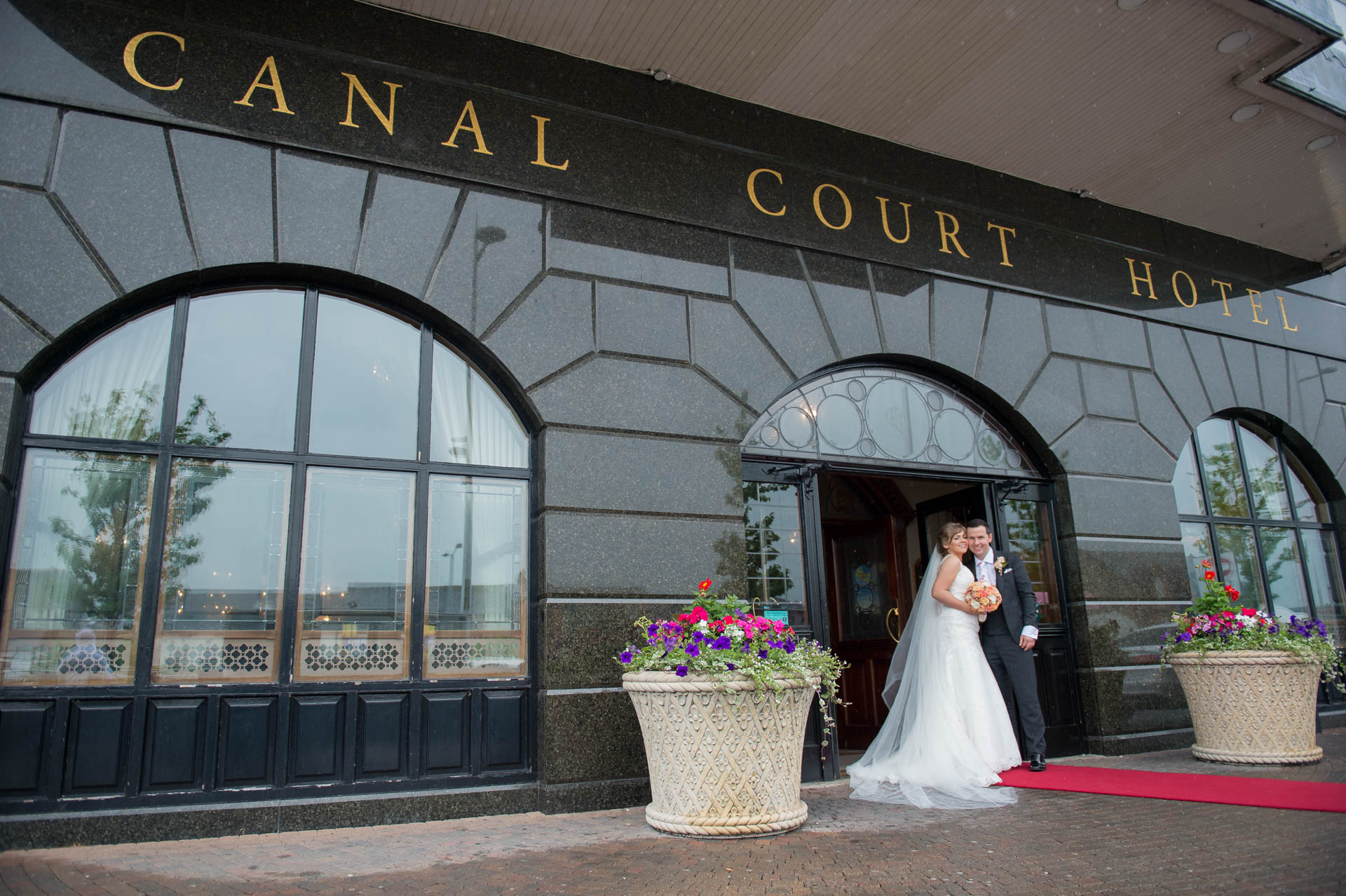 Picture of Ruth and Robert at Canal Court, Newry on their wedding day captured by Fermanagh, Tyrone and Northern Ireland Wedding Photographer, Trevor Lucy Photography