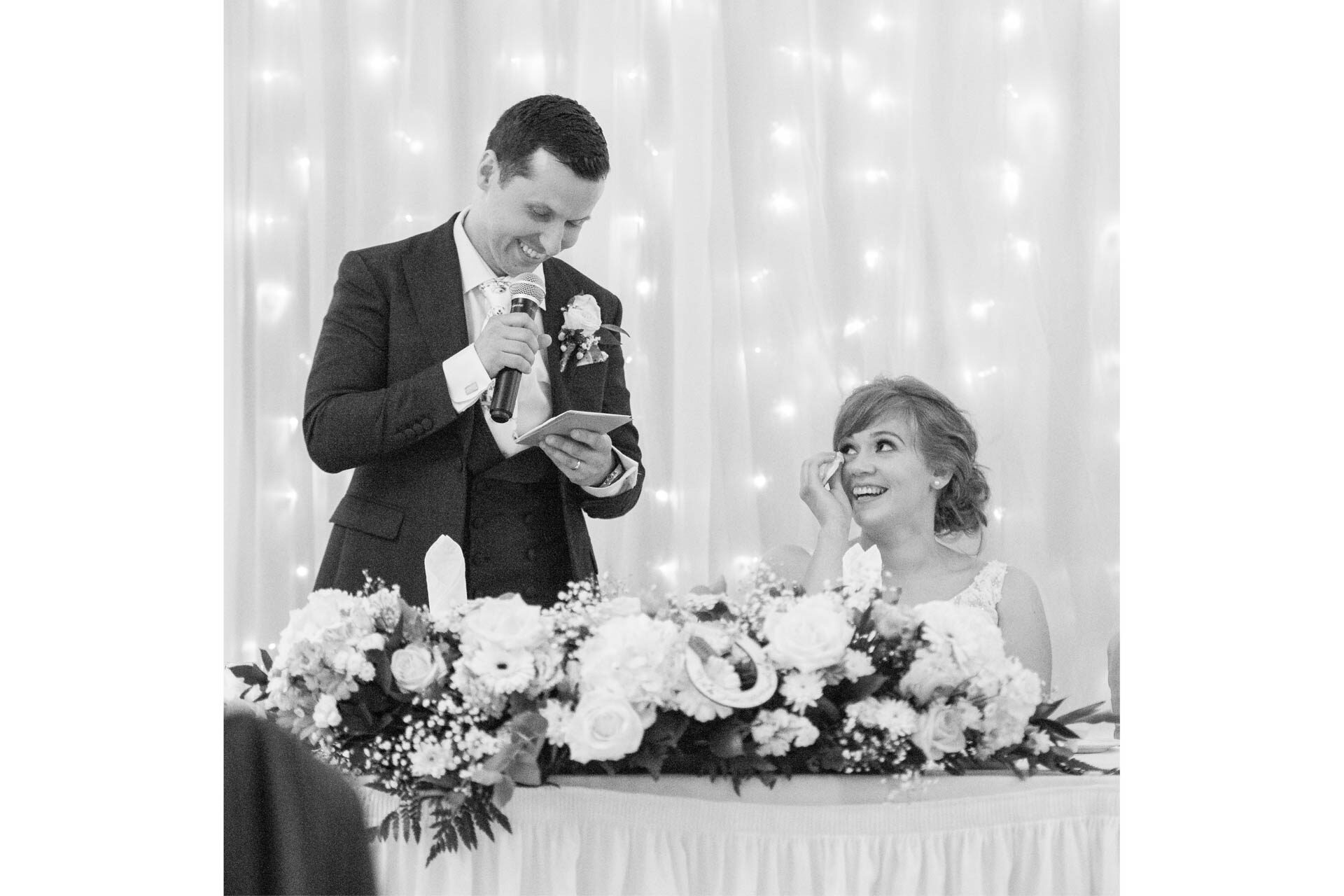 Picture of Ruth and Robert at Canal Court Newry on their wedding day captured by Fermanagh, Tyrone and Northern Ireland Wedding Photographer, Trevor Lucy Photography