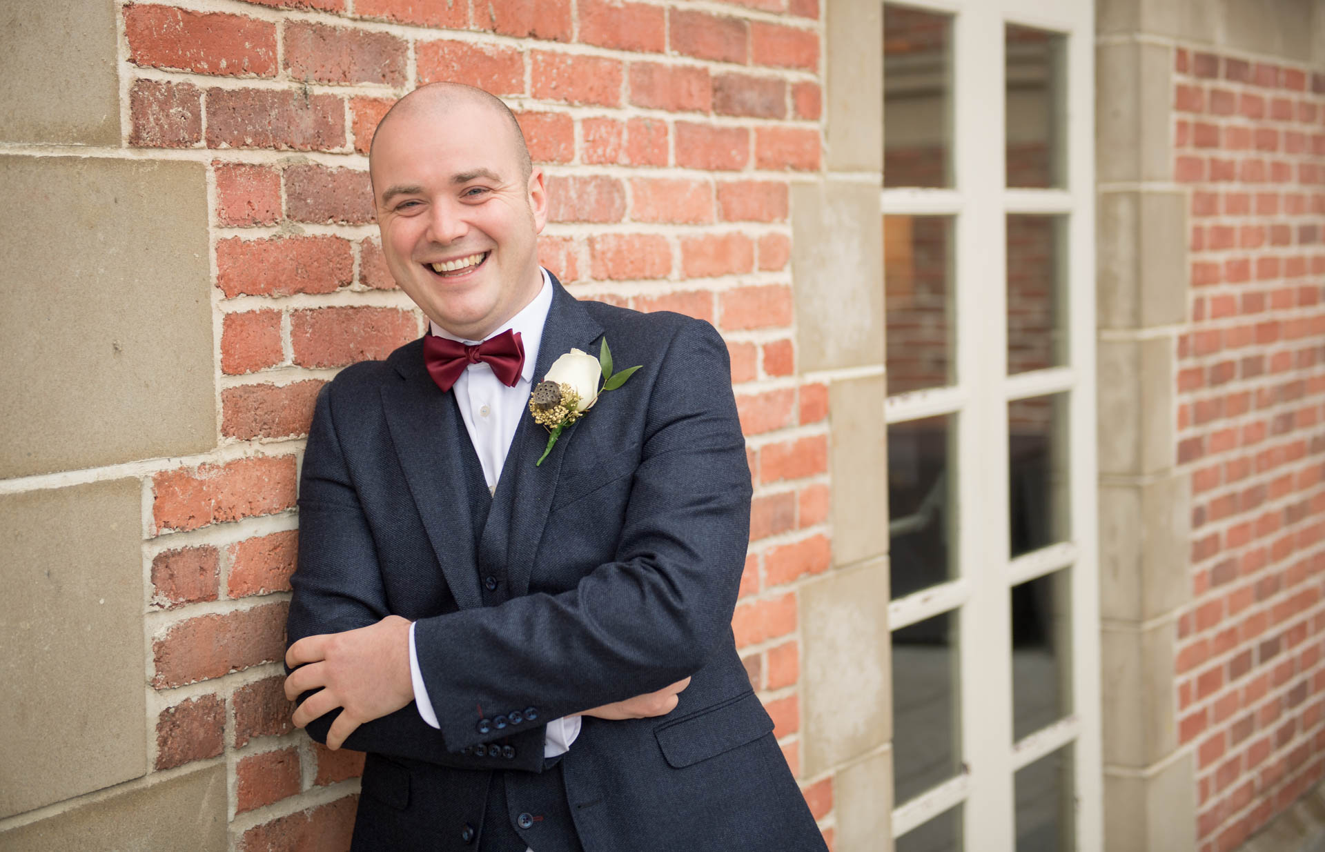 Picture of the groom ahead of the ceremony