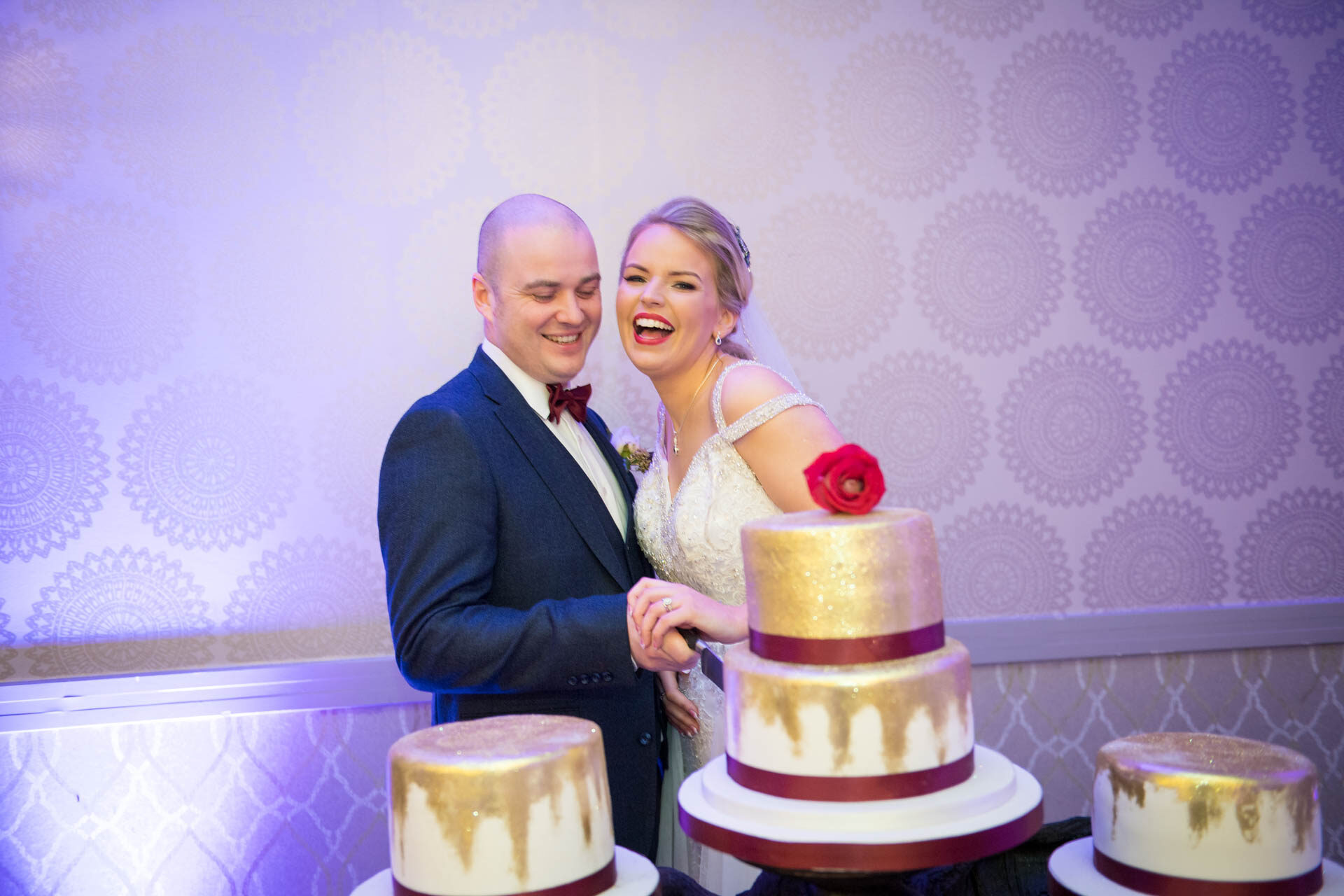 Picture of Tayna and Niall at Cavan Crystal Hotel, Cavan, on their wedding day captured by Fermanagh, Tyrone and Northern Ireland Wedding Photographer, Trevor Lucy Photography