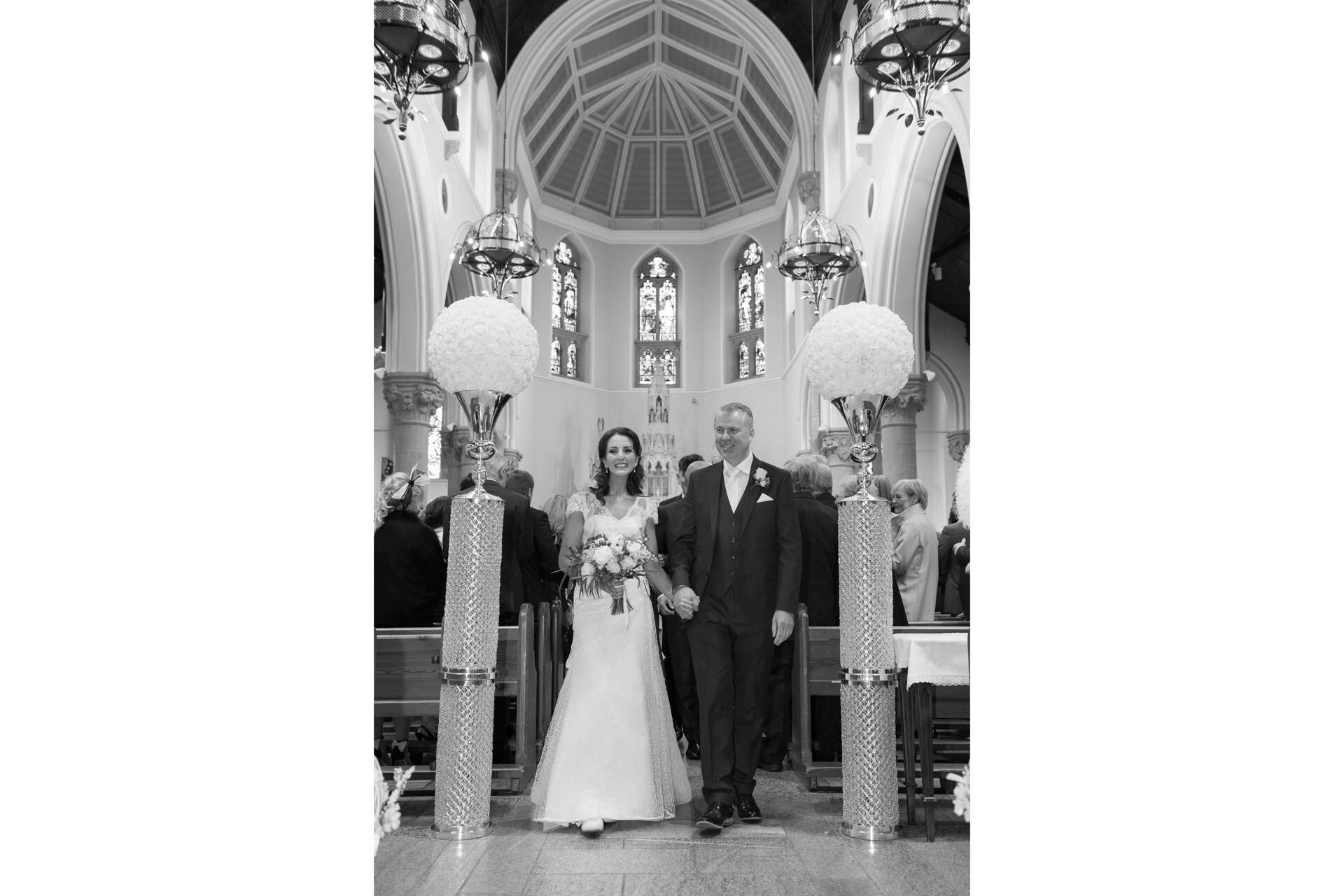 Picture of Vania and Robert at St. Michael's Church on their wedding day, captured by Fermanagh, Tyrone and Northern Ireland Wedding Photographer, Trevor Lucy Photography