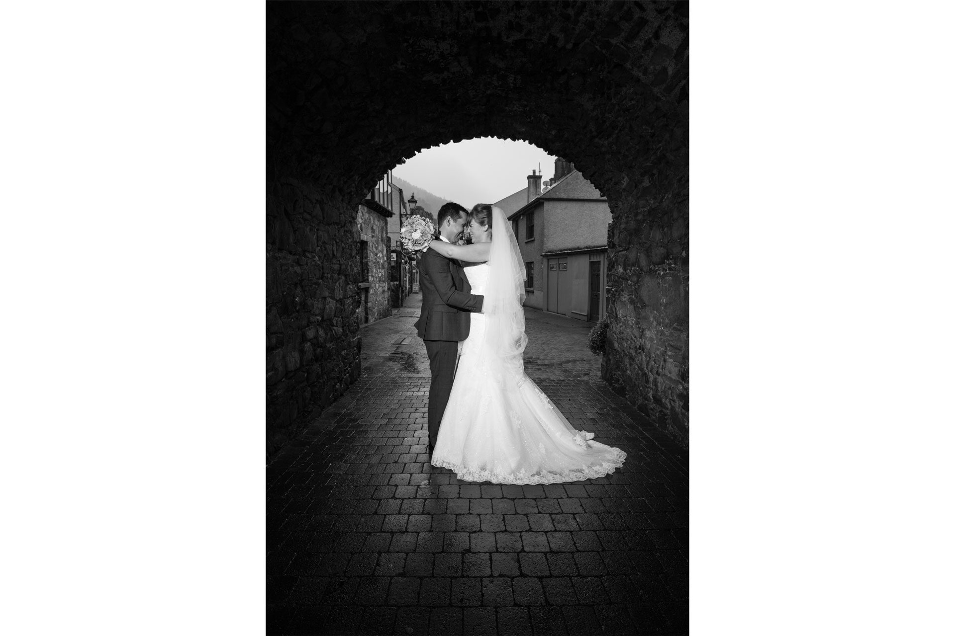 Photo of Ruth and Robert on their wedding day, captured at Carlingford, Co. Louth, Ireland.