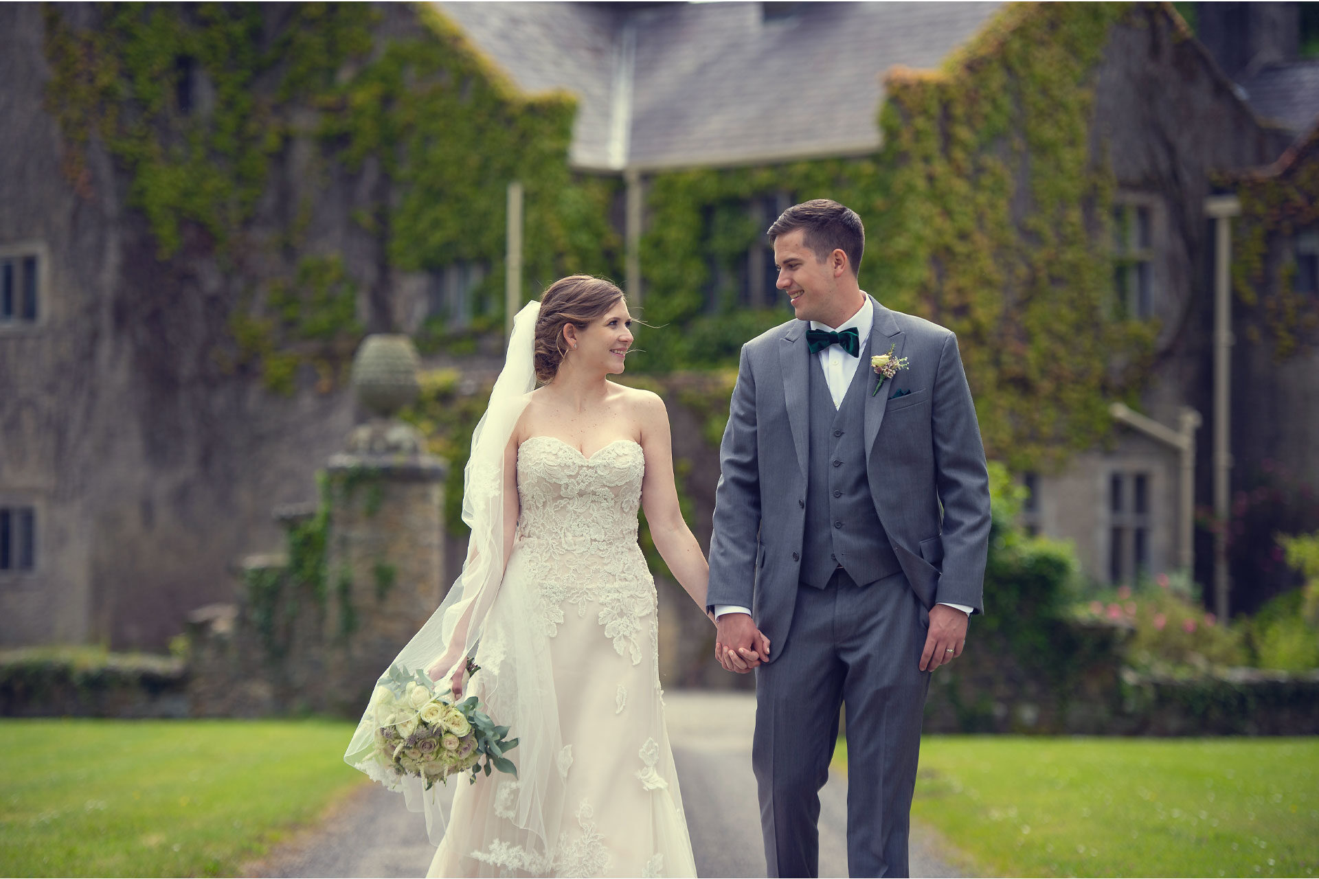 Photo of Lindsey and Jarred on their wedding day, captured at Belle Isle Castle, Lisbellaw, Co. Fermanagh, Northern Ireland.