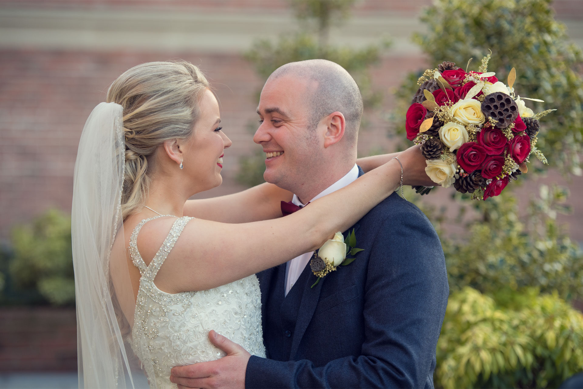 Photo of Tayna and Niall on their wedding day, captured at Cavan Crystal Hotel, Co. Cavan, Ireland.