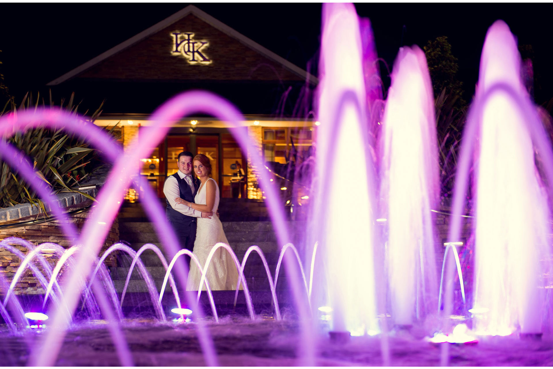 Photo of Becky and Ryan on their wedding day at Hotel Kilmore, Co. Cavan, Ireland. Last shot of the night.