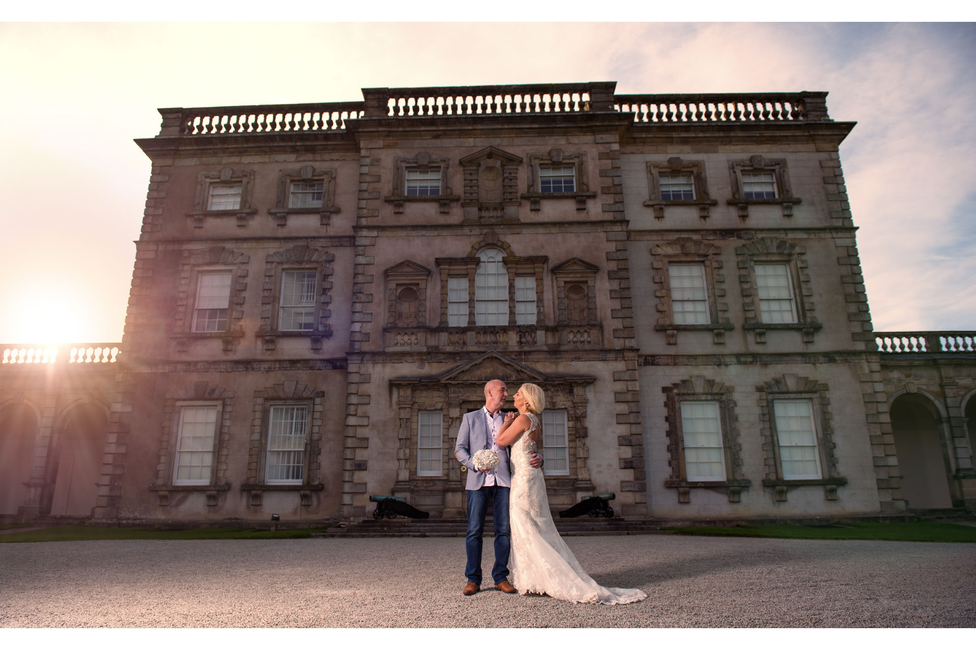 Photo of Lorraine and Kieran captured as they celebrated their home wedding at Florencecourt House, Enniskillen, Co. Fermanagh, Northern Ireland.